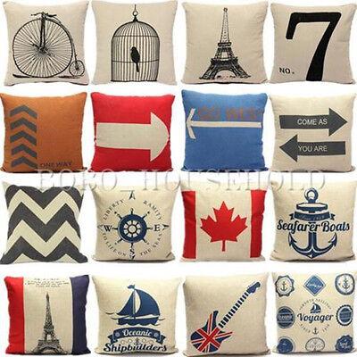 Cotton Linen Pillow Case Cushion Cover Decorative Square Home Throw Sofa Simple