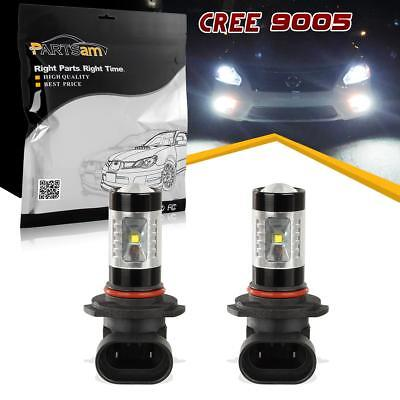 2x 9005 HB3 30W Ultra White CREE Led DRL Daytime Running Light Bulbs Projector