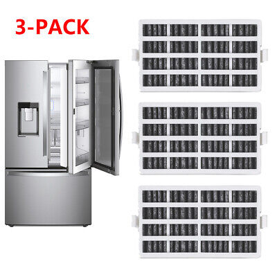 For Whirlpool W10311524 AIR1Fresh Air Replacement Refrigerator Air Filter 3 Pack