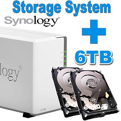 6TB (2x3TB) Synology Disk Station DS218j Netzwerkspeicher Gigabit NAS