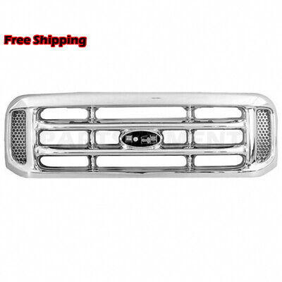 New Fits 1999-2004 Ford F-250 Super Duty Front Grille All Chrome FO1200417