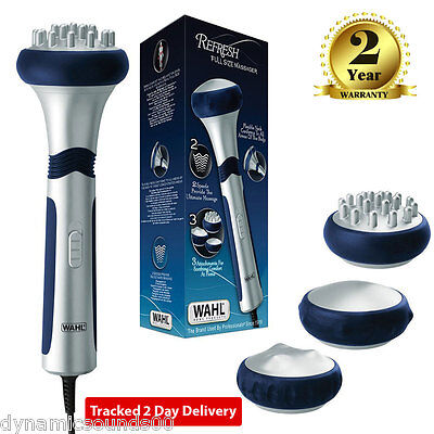 Wahl 4296-027 Hand Held Full Size Flexible Body Deep Massager with 3 Attachments