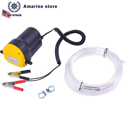 12v Motor Oil Diesel Extractor Scavenge Suction Transfer Change Pump Us Stock