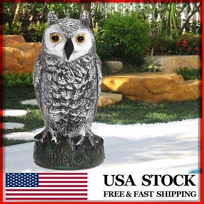 Fake Owl Decoy Hunting Protection Garden Decor Repel Bird Scarer Scarecrow USA