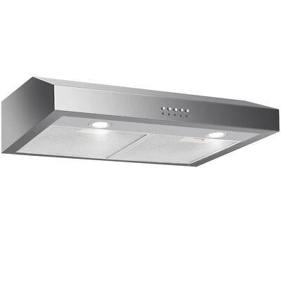 "30"" Under Cabinet Kitchen Range Hood Stainless Steel w/ LED lights 3-Speed 69W"