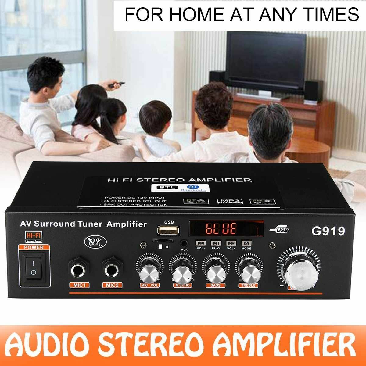 Audio Music Players Bluetooth Power Mini Amplifiers Home And