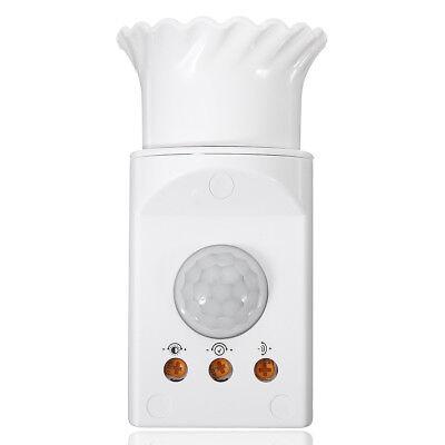 220v E27 Pir Sensor Switch Infrared Motion Detector Us Plug Control Home System