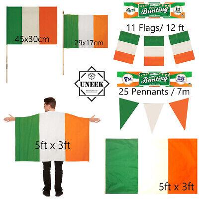St. Patrick's Day Irish flag Republic of Ireland Bunting Cape Party Celebration ()