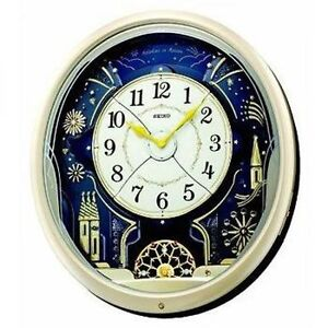 seiko qxm239s analogue musical melodies in motion pendulum antique wall clock ebay. Black Bedroom Furniture Sets. Home Design Ideas