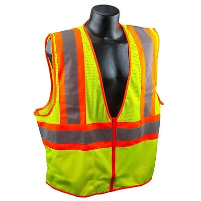 Full Source Class 2 Reflective Mesh Safety Vest With Pockets