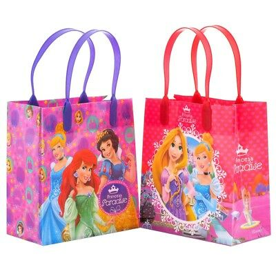 12PCS Disney Princess Goodie Party Favor Gift Birthday Loot Reusable Bags - Disney Princess Goodie Bags