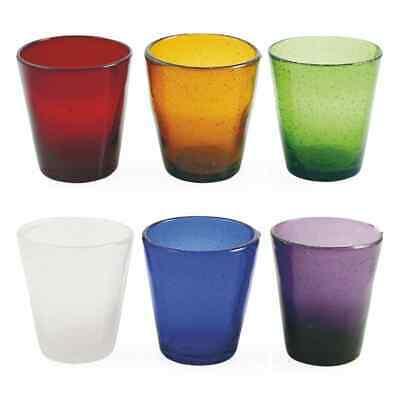 Villa D'Este Set 6 Vasos Cancún de Vidrio Colores Surtidos