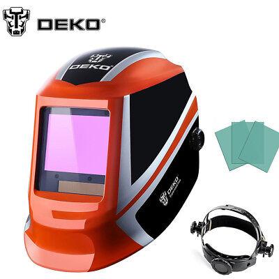 DEKO Pro Solar Auto Darkening Welding Helmet Arc Tig Mig Mask Grinding Welder