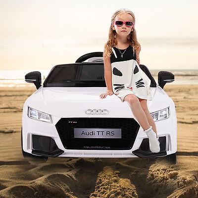 12V Audi TT Electric Kids Ride On Car MP3 LED Lights Remote Control Licensed WH
