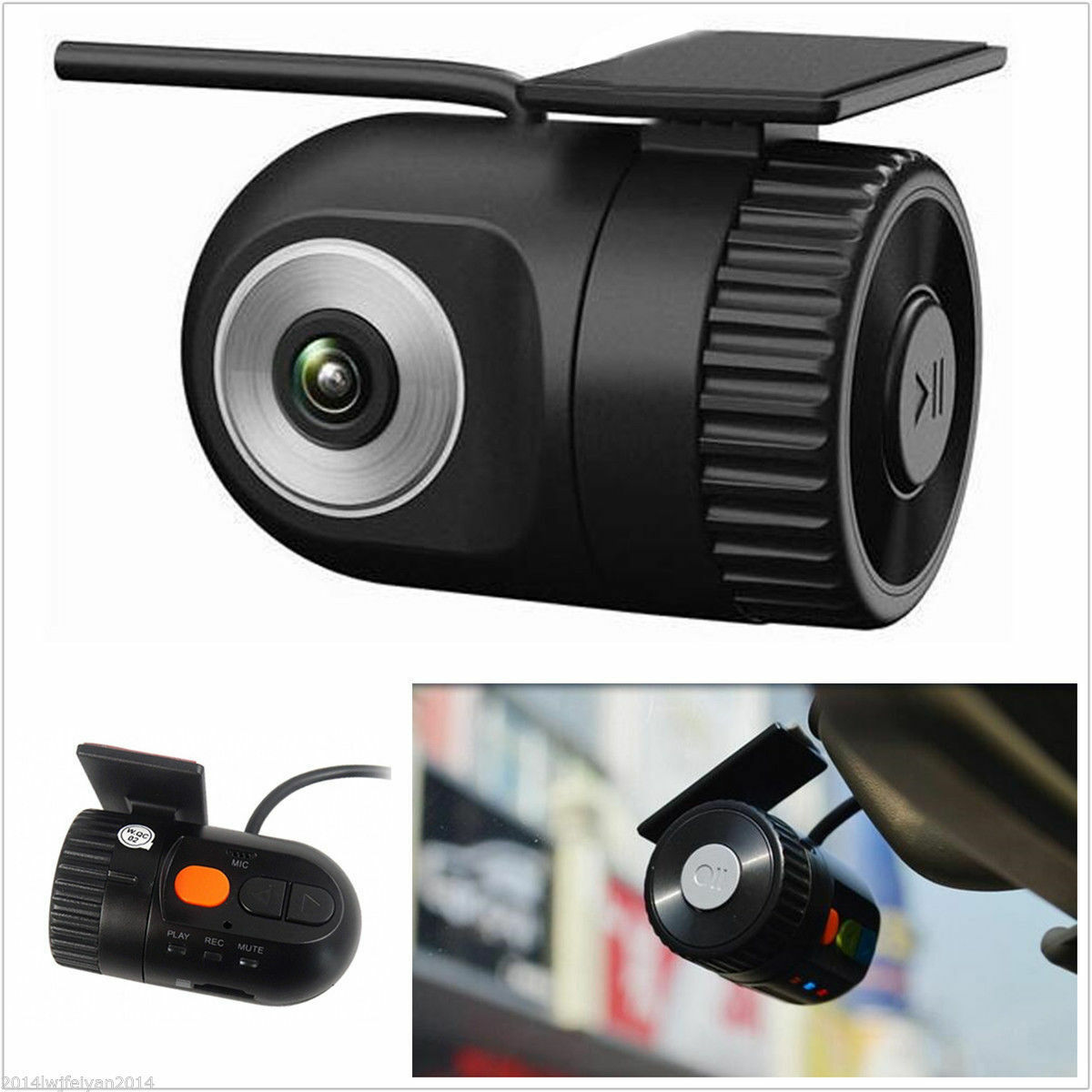 mini dash cam dvr videorekorder hd kamera nachtsicht. Black Bedroom Furniture Sets. Home Design Ideas