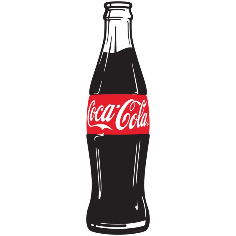 Coca-Cola Simple Bottle Modern Pop Art Decal 7 x 24 Coke Kitchen Wall Decor