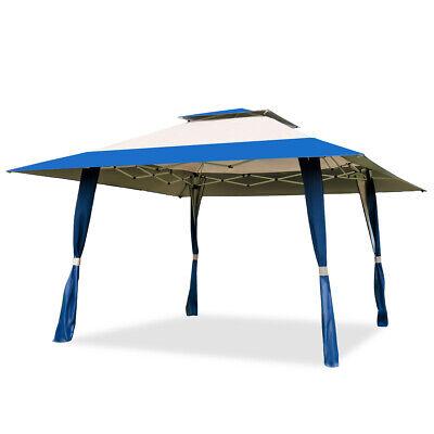 13'x13' Folding Gazebo Canopy Shelter Awning Tent Patio Outdoor Companion Blue Blue Canopy New Gazebo