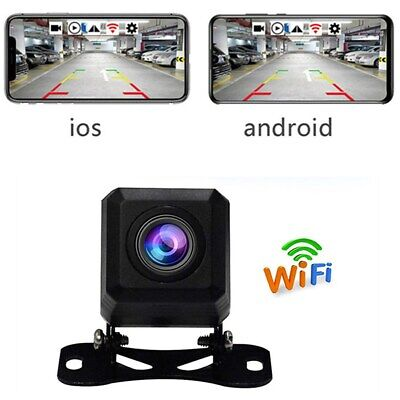 HD WiFi Wireless Car Vehicle Rear View Backup Camera For Android IOS Waterproof