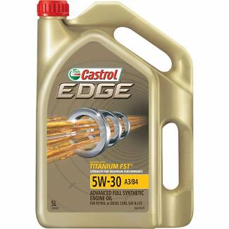 Castrol Edge Full Synthetic Engine Oil - 5W-30, 5 Litre. New.