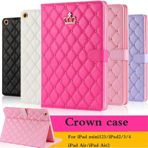 Luxury Crown Slim Smart Wake Leather Case Cover For iPad Min