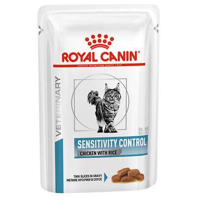 Royal Canin Sensitivity Control VHN Cat Food Wet Chicken Pouches 48 x 85G