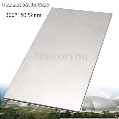 3mm Thick Silver Industrial Titanium 6al4v Metal Plate Sheet 12 X 6 X 0 .125