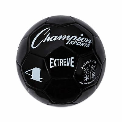 Champion Sports Extreme Soft Touch Butyl Bladder Soccer Game Ball, Size 4, Black (Soft Soccer Ball)