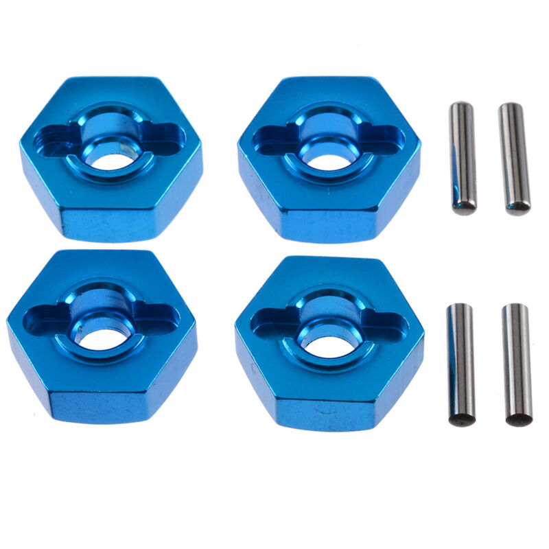 Car Parts - 4Pcs 12mm Hex Wheel Hub Mount with Pins For 1:10 HSP RC Crawler Car Spare Parts