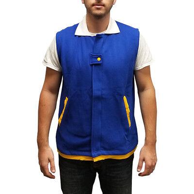 Ash Ketchum Vest Pokemon Original Trainer Costume Adult Youth Sleeveless Jacket (Ash Ketchum Jacket Costume)
