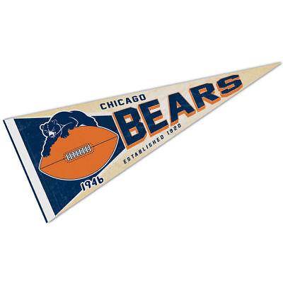 chicago bears retro vintage logo pennant flag