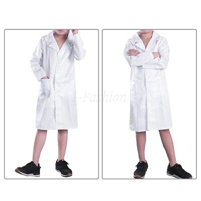 Kids Doctor Coat (WHITE LAB COAT DOCTOR COSPLAY CHILD COSTUME SCIENTIST SCRUBS BOYS GIRLS)