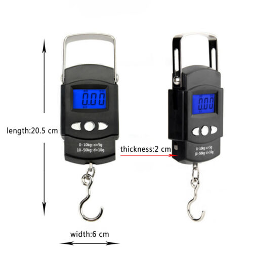 Portable LCD Digital Electronic Scale Vegetable Luggage Mailing Fishing Scale