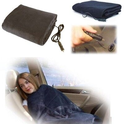 Car Heated Electric 12V 48W Portable Throw Travel Blanket - Colorful random