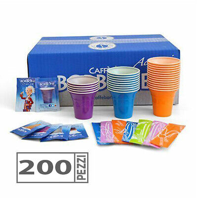Kit borbone Accesorios 200 Vasos Café Paleta Sobres Azúcar Original SC0