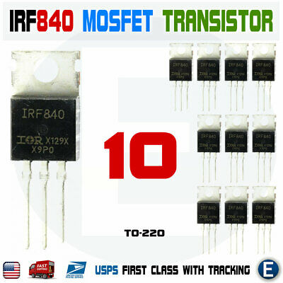 10pcs Irf840 Irf840pbf Power Transistor Mosfet N-channel 8a 500v To-220 Ir