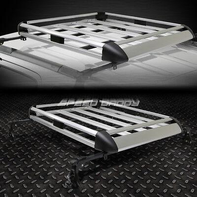 "50""X 31""ALUMINUM ROOF RACK CAR/SUV TOP CARGO LUGGAGE/BAG CARRIER BASKET+CROSSBAR"