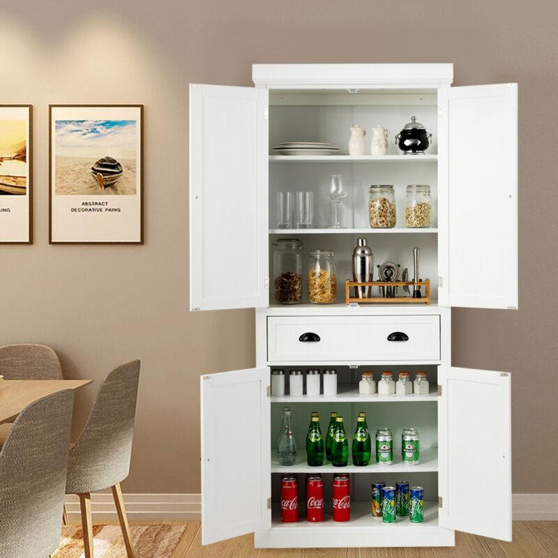 FCH Kitchen Storage Pantry Cabinet Cupboard Food Organizer Furniture 6 Sheeves