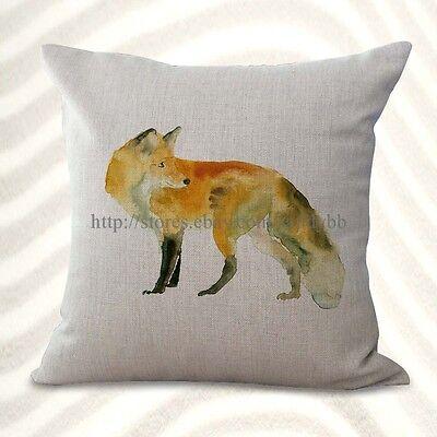 US Seller-fox animal cushion cover decorative pillows discount ()