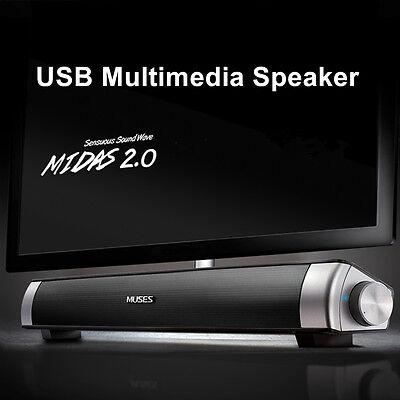 MIDAS-2.0 USB Multimedia Speaker Soundbar System For Computer PC Laptop Desktop