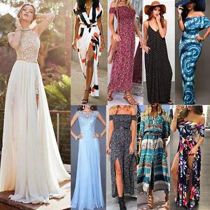Womens-Boho-Long-Maxi-Dress-Evening-Cocktail-Party-Summer-Beach-Dresses-Sundress