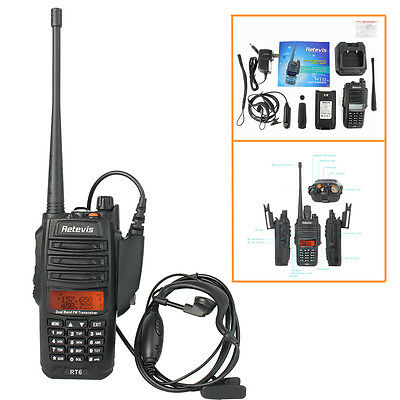 Ip67 Dustwaterproof Retevis Rt6 Walkie-talkie Uhfvhf Cross Band 2-way Radio Us