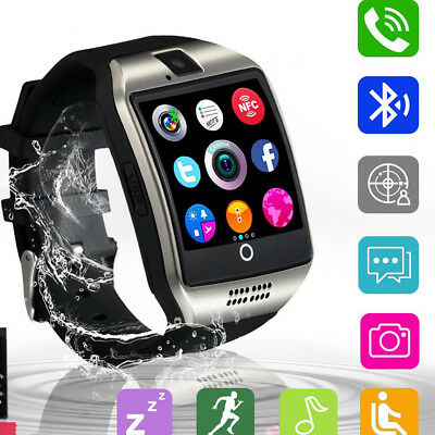 Bluetooth Smart Watch over with Camera Waterproof Support iPhone Android Smartphones