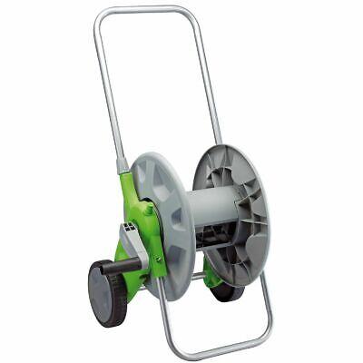 Garden Hose Reel Cart Snap-together Parts Green Grey Lightweight Plastic Frame