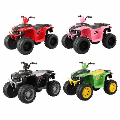12V Kids Ride On 4-Wheeler Car Electric Battery Powered Toy ATV Car w/ Pedal
