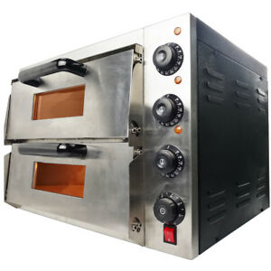NEW Commercial Pizza Oven Double Deck Electric 2x16