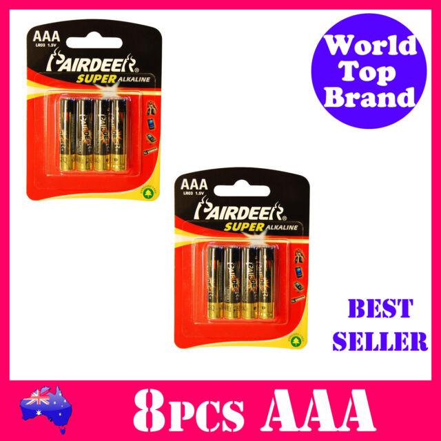 8pcs AAA Battery Super Alkaline PAIRDEER Premium Quality Batteries AAA LR03