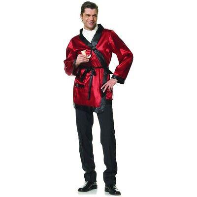 Smoking Jacket Costume Adult Hugh Hefner Halloween Fancy - Smoking Jacket Herren Kostüme