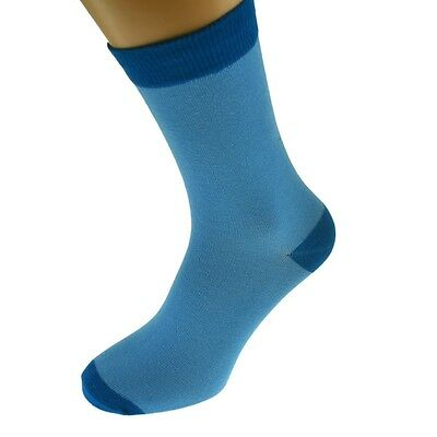 Blue Mens Socks with Dk Blue heal and toes, popular Wedding Day...