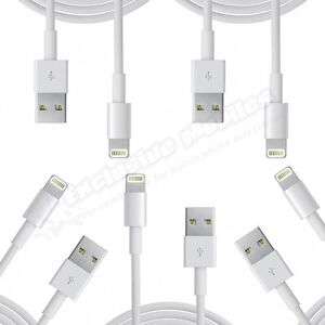 5x 8 Pin USB Data Sync Charger Cable Cord for iPad 4 Air Mini 2 iPhone 5 5S 5C