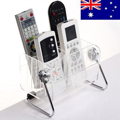 Clear TV Remote Control Phone Key Pen Organizer Glasses Storage Box Stand Holder